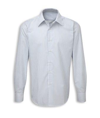 Men's long sleeved double stripe shirt grey/white