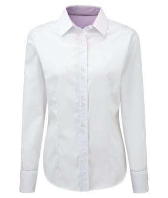 Women's long sleeve 100% cotton shirt