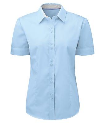 Women's short sleeve 100% cotton shirt