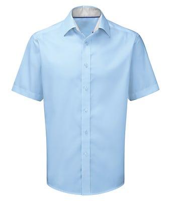 Men's short sleeve 100% cotton shirt
