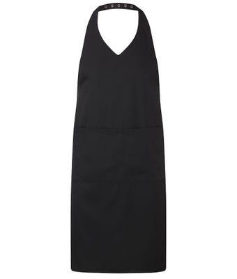 V-neck halter apron