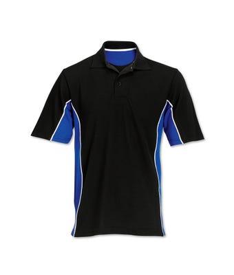 Contrast side panel polo shirt