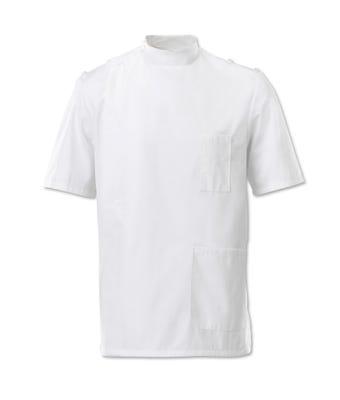 Men's mandarin collar epaulette tunic