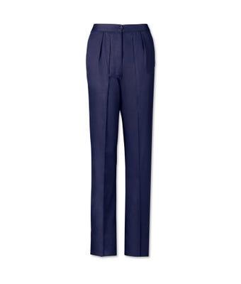 Women's twin pleat trousers