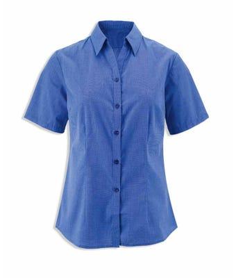 Women's woven colour short sleeved shirt