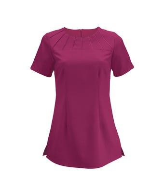 Women's satin trim tunic