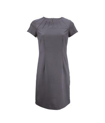 Satin trim dress