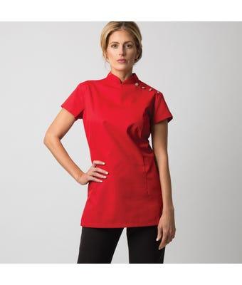 Women's shoulder button tunic