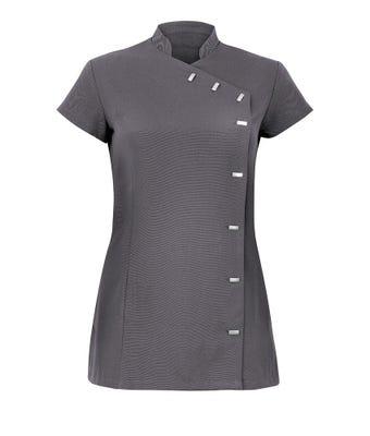 Women's easycare wrap button beauty tunic