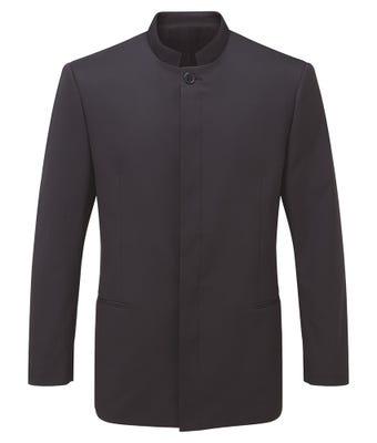 Easycare men's mandarin collar jacket