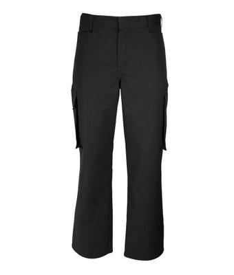 male cargo trousers - black