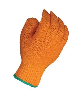 Criss cross PVC gloves