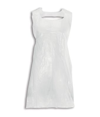 Disposable aprons on a roll white