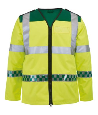 Ambulance long sleeved hi-vis waistcoat